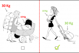 Amandine Ventadour consultante en parentalité - poussette porte bebe