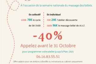 Amandine Ventadour consultante en parentalité - semaine masage bébé 2020