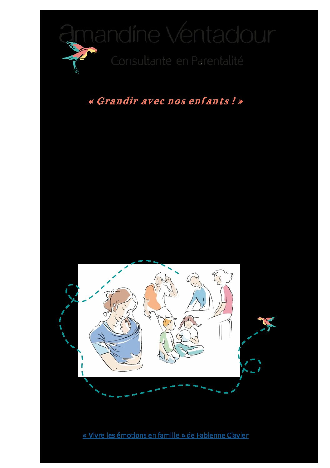 Amandine Ventadour consultante en parentalité - ebook reparer la relation